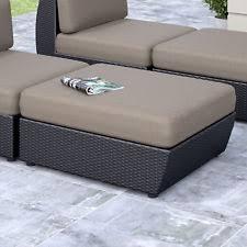 wicker patio ottomans footstools u0026 poufs ebay