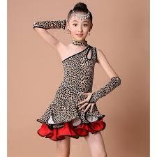 kids samba leopard dress for dancewear samba ballroom