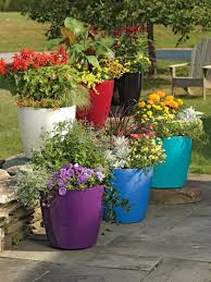 self watering large flower pots plastic rolling viva self watering planters