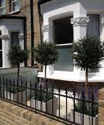 Small Terraced House Front Garden Ideas Olive And Lavender Fakeitflowers Garden Containers Are