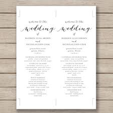 Example Of Wedding Programs Wedding Agenda Template Beach Wedding Itinerary Template Wedding
