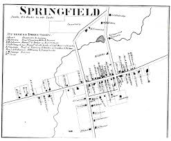 Erie Pennsylvania Map by Springfield Town Plat Map Bt05
