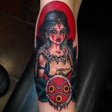 princess mononoke tattoo by paul nycz at iron heart in des moines