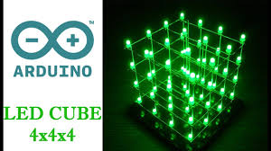 arduino uno r3 led cube 4 4 4 how to make with sketch code