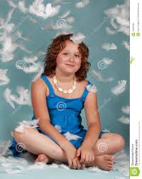 preteen girl modeling preteen girl with white feathers stock image image of pretty