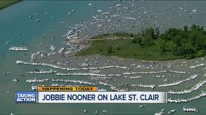 lake st clair lake st jobbie nooner today on gull island in lake st clair crackdown on