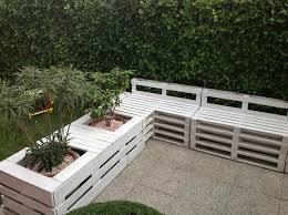 diy pallet furniture ideas patio seating area planters
