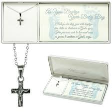 baptism jewelry box baby boy baptism box cross crucifix necklace sterling silver 73