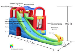 amazon com inflatable bounce house and water slide wet or dry