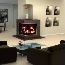 corner wall mount ethanol fireplace modern interior design