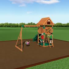 Swing Set For Backyard by Trek Wooden Swing Set Playsets Backyard Discovery