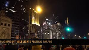 light parade chicago 2017 2017 magnificent mile lights festival parade 4k youtube