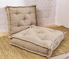 tufted wool filled cushion floor cushion chair cushion