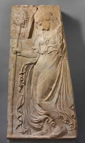 marble relief with a dancing maenad adaptation of work