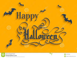 happy halloween lettering greeting card stock vector image 45592256