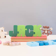 personalised wooden name jigsaw all things brighton beautiful