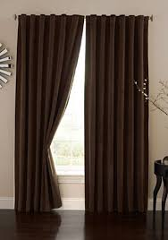 absolute zero velvet blackout home theater curtain panel chocolate