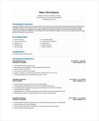 hospital resume exles volunteer resume sle volunteer resume exle jobsxs