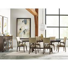 Seven Piece Dining Room Set Seven Piece Dining Set With Extendable Trestle Table And Tweed