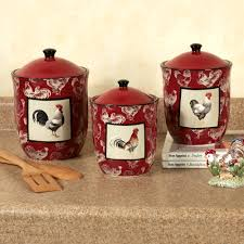 rooster decor country kitchen canister sets ceramic voluptuo us