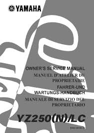 yamaha service workshop manual 2001 yz250 yz250 n lc u2022 25 00