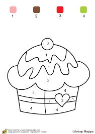 coloriage magique niveau cp un gâteau