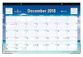 desk pad calendar 2018 blue sky 2018 monthly desk pad calendar 17 x 11 endless summer