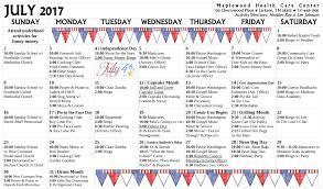 the 25 best money activities activity calendar u2013 july 2017 maplewood healthcare center