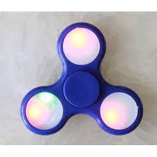 fidget spinner light up blue tri hand spinner fidget spinners led light up blue design toy stress