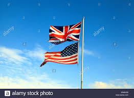 flags of great britain and u s a america and uk flag union jack