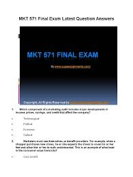 mkt 571 final exam latest question answers marketing brand