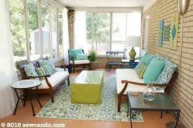 diy sunroom sew can do diy sunroom back porch makeover