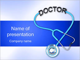 doctors stethoscope powerpoint template u0026 backgrounds id