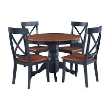 shop home styles black cottage oak dining set with round dining