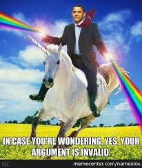 Unicorn Rainbow Meme - obama shooting rainbows and riding a unicorn by namenlos meme center