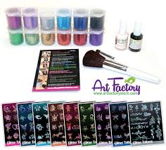 art factory pro kit 160 glitter tattoos