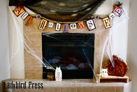 printable steampunk halloween banner decoration instant