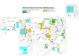 Lsu Campus Map Mcneese State University Lake Charles La