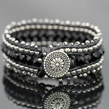 make silver bracelet cuff images Leather wrap bracelet kits bead world online bead store jpg