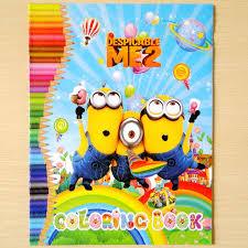 aliexpress buy 20pcs children coloring book cartoon minion