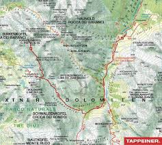 Dolomites Italy Map by Hiking Tour On The Forcella Del Lago Berghotel