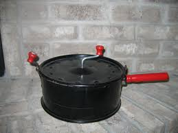 Old Fashioned Popcorn Machine Vintage Hand Crank Stove Top Popcorn Popper For Sale Antiques