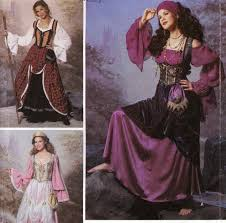 steampunk pirate corset blouse overskirt costume fortune