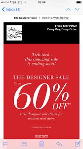 saks fifth avenue designer sale email design sale
