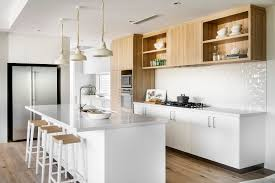 Timber Kitchen Designs Polytec Kitchen Doors And Panels Overheads And Pantry In Natural