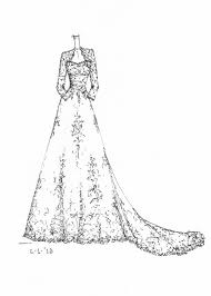 wedding dress coloring pages 64 best wedding dress sketches images on pinterest wedding dress
