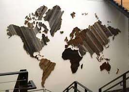 One Piece World Map Map Of The World From Reclaimed Barn Wood Recycled Reclaimed