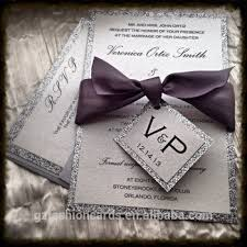 silver wedding invitations handmade glitter silver wedding invitations monogram invitations