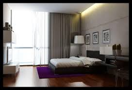 modern bedroom with wooden wall cladding and platform bedroom with