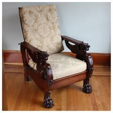 Morris Chair F3320 Mahogany Morris Chair Bogart Bremmer U0026 Bradley Antiques